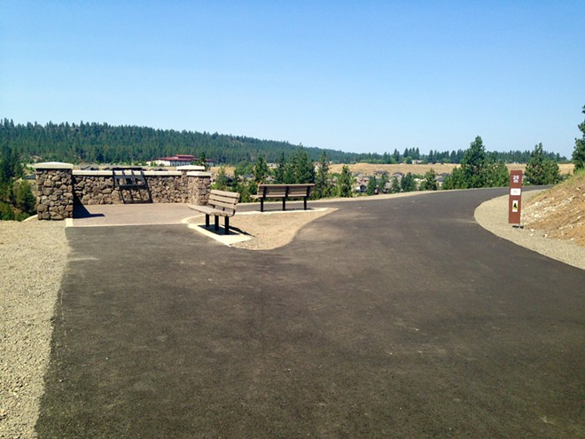 The new scenic overlook at mile 25. - FRANNY WRIGHT