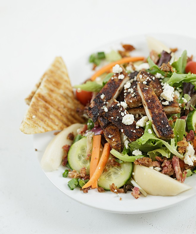 The pear gorgonzola chicken salad from Laguna Cafe, one of the many options on the restaurant week menu. - YOUNG KWAK