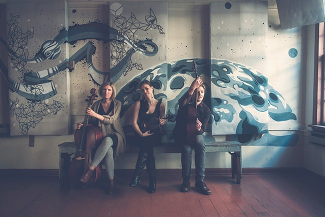 The recently turned three-piece, & Yet, plays the Bartlett Friday. - OCEANNA TOUT