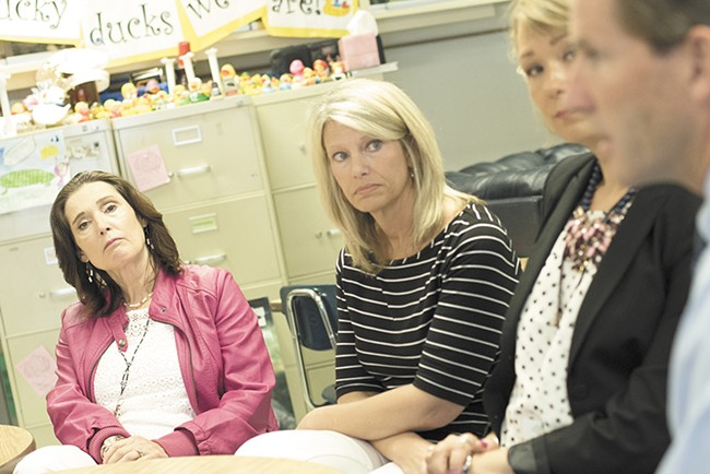 The school district's crisis teams act quickly to provide counseling after student deaths. - YOUNG KWAK
