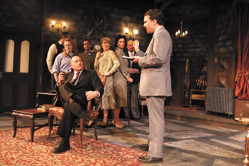 The Spokane Civic Theatre's cast of the age-old classic The Mousetrap. - MEGHAN KIRK