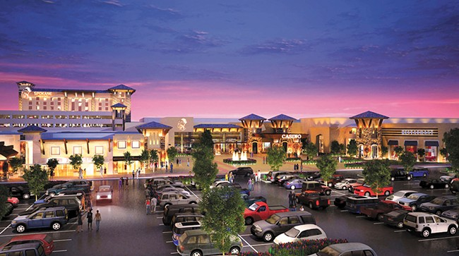 The Spokane Tribe's proposed casino.