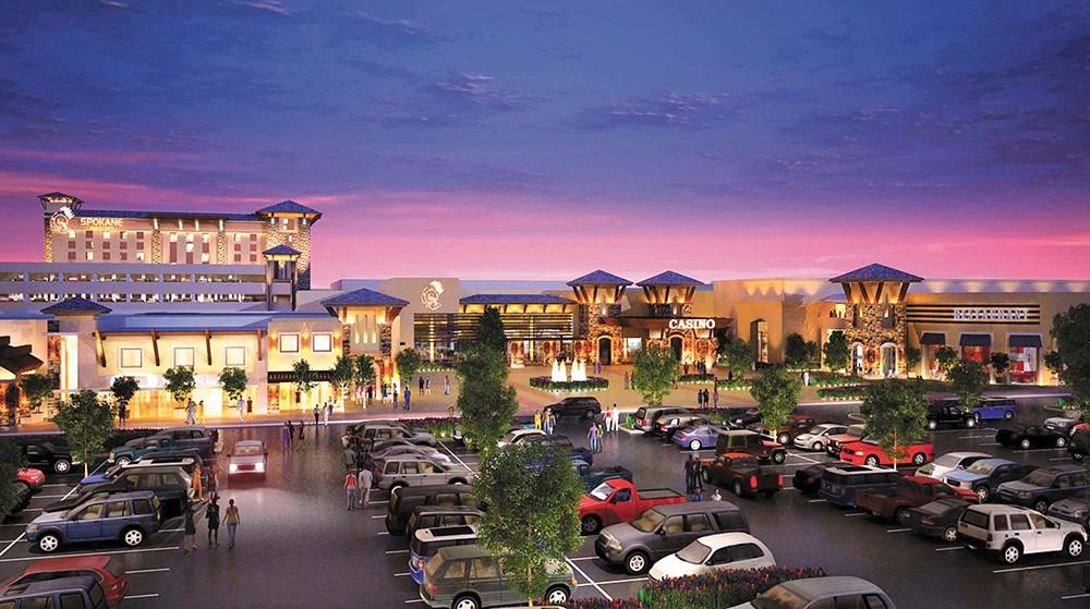 The Spokane Tribe's proposed casino.
