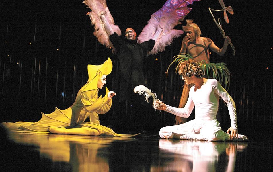 The vibrant costumes of Cirque du Soleil's Varekai.