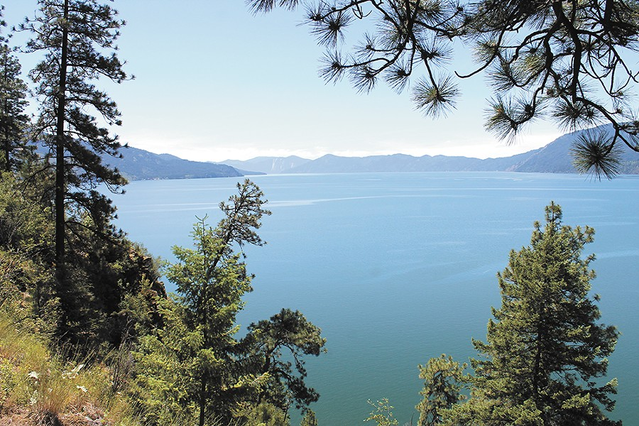 The view of Lake Pend Oreille's Green Bay. - FRANNY WRIGHT