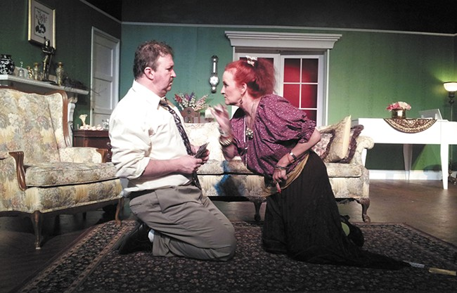 There's trouble on the homefront in Blithe Spirit.