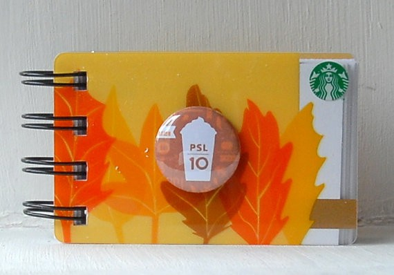 This person makes a whole selection of notebooks from old gift cards, which is actually a really smart idea. Stocking stuffers?
