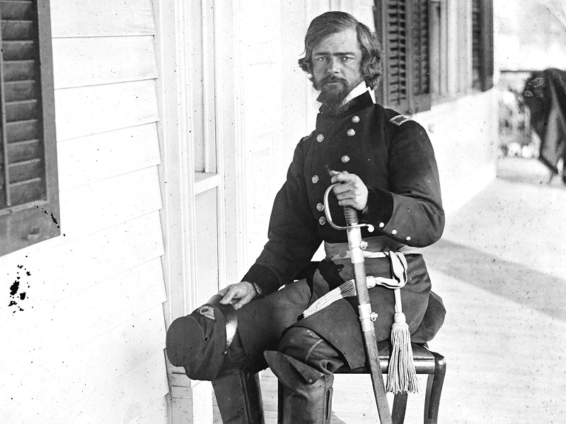 This photograph of Isaac Stevens was taken shortly after his promotion to brigadier general in fall 1861.