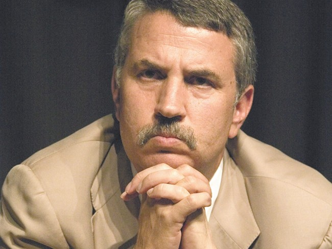 Thomas Friedman: Just thinking about how to save the world.