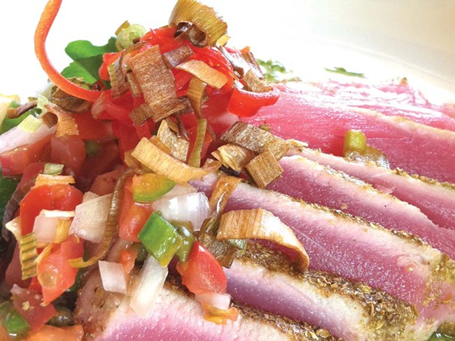 Toasted coriander ahi at Seasons of Coeur d'Alene - CARRIE SCOZZARO