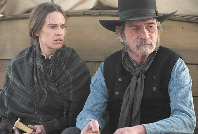 Tommy Lee Jones directs and stars with Hilary Swank in The Homesman.