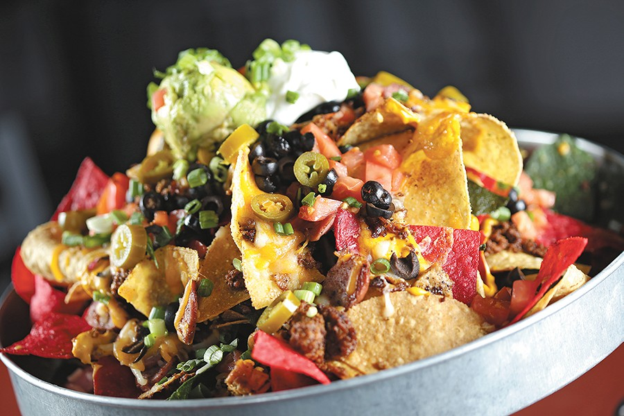Trash Can Nachos at Spike's Phillys and More. - YOUNG KWAK