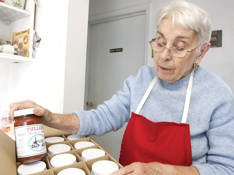 Tullia Barbanti shows off jars of her eponymous product. - MIKE MCCALL