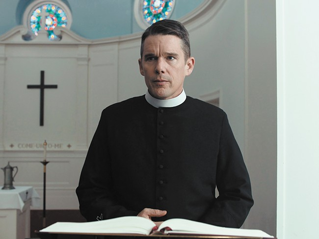 Ethan Hawke stars in Paul Schrader's First Reformed, which screened last week at the Seattle International Film Festival.