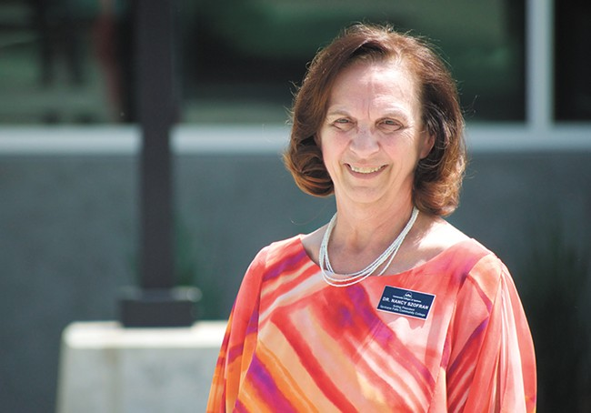 Nancy Fair-Szofran will serve as SFCC president for one year as the college searches for a permanent replacement. - WILSON CRISCIONE PHOTO
