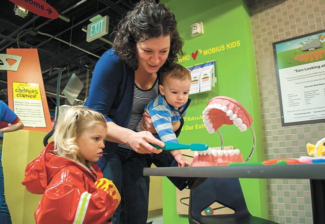 Visit Mobius Children's Museum on Father's Day and save two bucks on admission.
