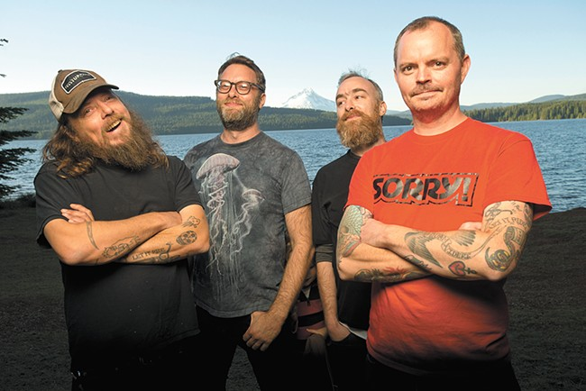 Stoner rock doesn't get much goofier (or oftentimes grosser) than Red Fang.