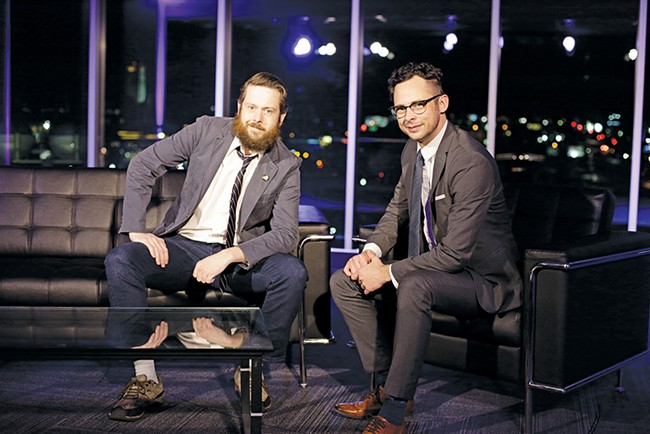 Lilac City Live co-hosts Shawn Glasow (left) and Ryan Dean Tucker (right). - YOUNG KWAK