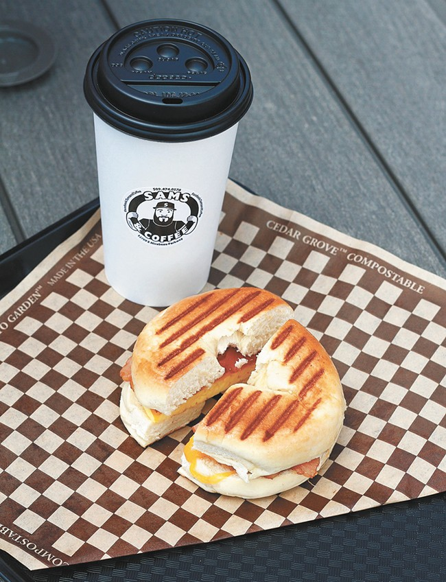 Sams and Coffee keeps it simple and flavorful.