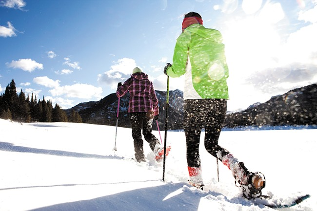 Spokane's Parks Department hosts dozens of snowshoeing events each year.