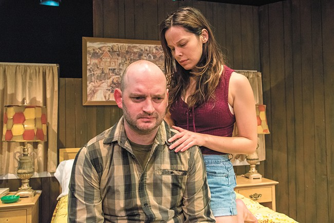 Danny Anderson (left) and Josephine Keefe star in Bug at the Spokane Civic. - ERICK DOXEY PHOTO