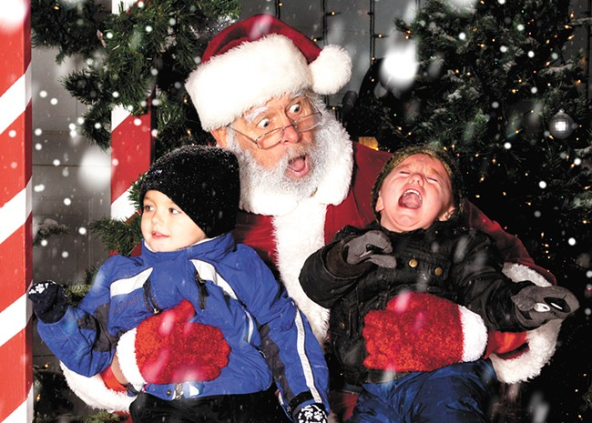 Robert Wilson, who played Santa Claus at the Christmas Light Show, also played an integral role in Morris's federal lawsuit. - MARK ADDY PHOTO