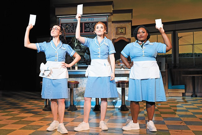 Christine Dwyer (center) plays Jenna, the lead in Waitress. - TIM TRUMBLE PHOTO