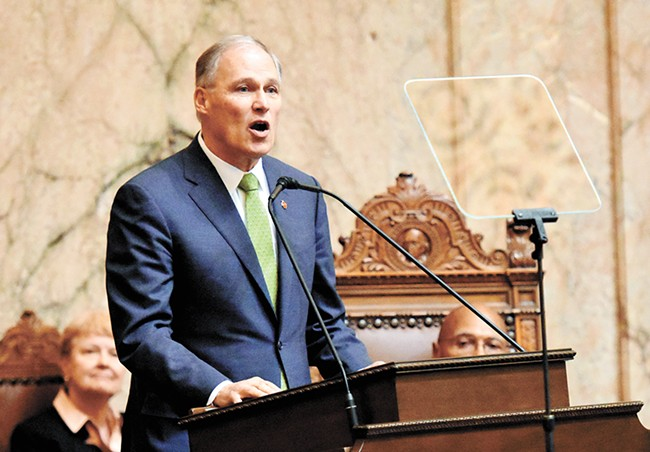 Gov. Jay Inslee's legislative agenda includes aggressive action meant to stave off the worst effects of climate change.