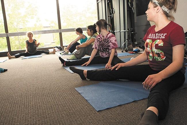 Yoga Instructor Pamela Stevens helps Daybreak clients get a fresh start. - MEGHAN KIRK