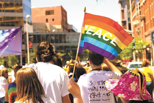 Spokane celebrates its 24th Pride Parade this year. - JOE KONEK