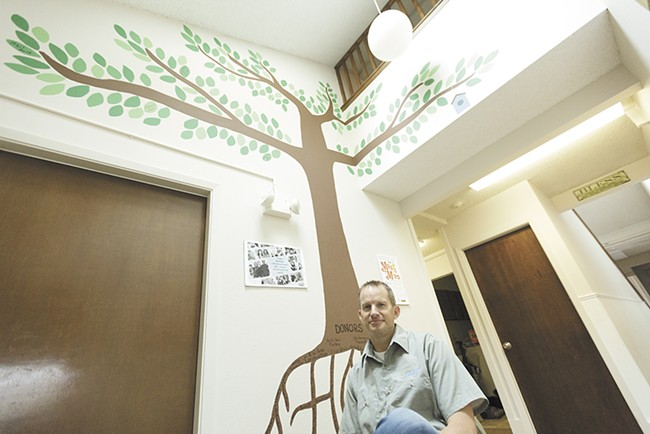 Family Promise of Spokane Executive Director Steve Allen ended up connecting the Friedrich family with a friend of his who had a home available. - YOUNG KWAK