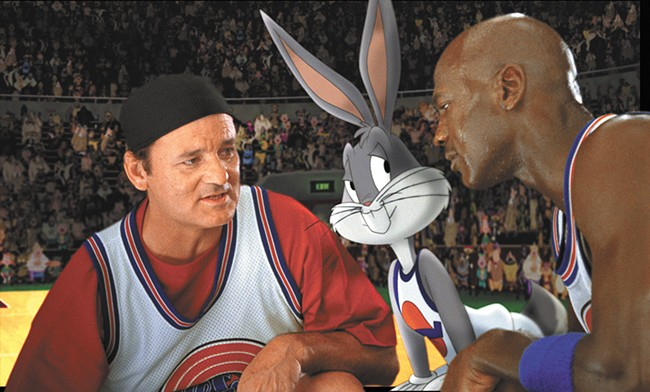 Riverfront Park is hosting movies on Wednesday evenings throughout the summer, including Space Jam.