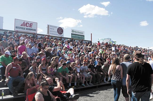 The crowd in Lind on Saturday, June 13. - MEGHAN KIRK