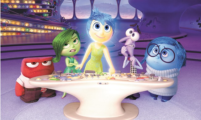 Emotions come to life in Inside Out.