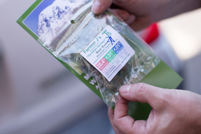 Farmer J's Sour Kush is one of the most popular strains in Spokane's marijuana retail stores.