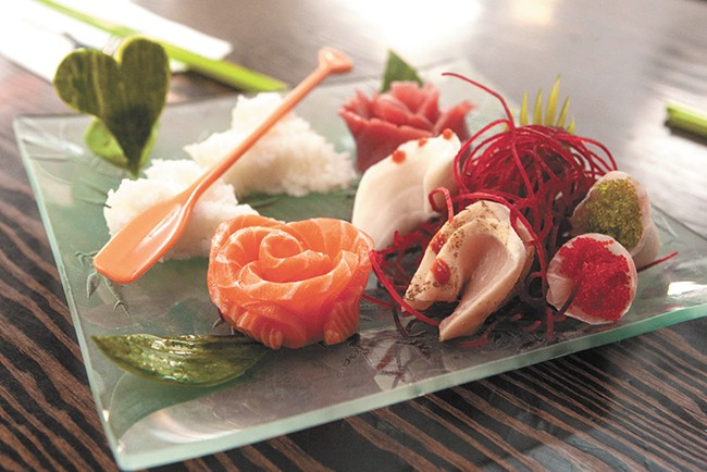 The sashimi dinner from QQ Sushi & Kitchen. - MEGHAN KIRK