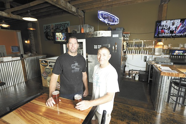 Bennidito's Brewpub co-owner Chris Bennett (left) and head brewer Zach Shaw. - YOUNG KWAK