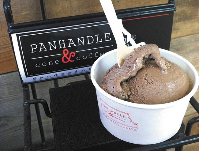 Ice cream from Panhandle Cone & Coffee. - CARRIE SCOZZARO