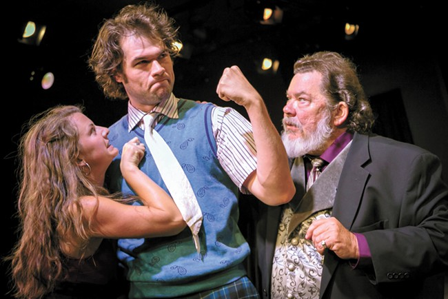 From left: Aimee Paxton, Chris Mudd and Bill Marlowe in the EWU/Modern Theater production of Twelfth Night. - DAN BAUMER PHOTO