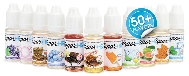 Vapor + 1Q offers vapors in traditional tobacco flavors, as well as sweet and fruity options.