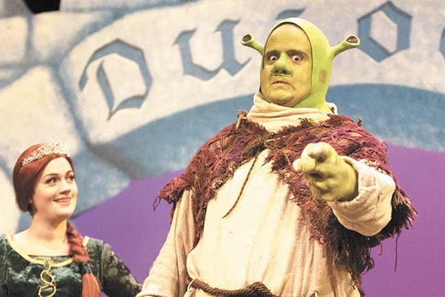 Erik Gratton plays the title role in Coeur d'Alene Summer Theatre's production of Shrek The Musical. - YOUNG KWAK