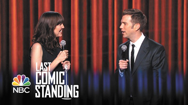 Andy Erickson with Last Comic Standing host Anthony Jeselnick.
