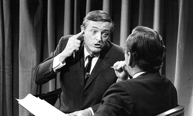 William F. Buckley, Jr. gives Gore Vidal a piece of his mind during a 1968 debate.