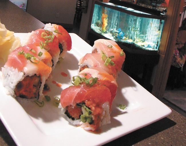 Kaiju serves sushi with a side of Godzilla. - CARRIE SCOZZARO