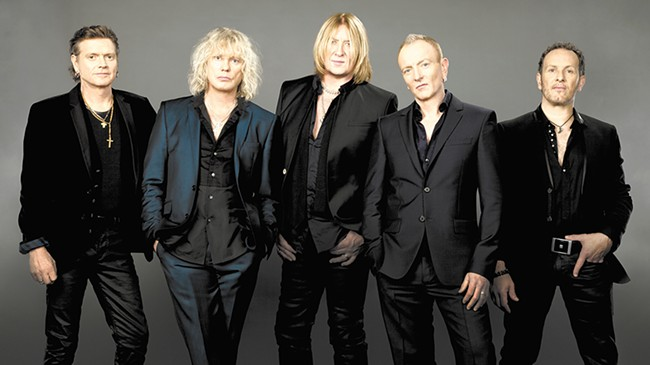 Would Def Leppard be up for another soccer match on their current tour, stopping in Spokane Wednesday?