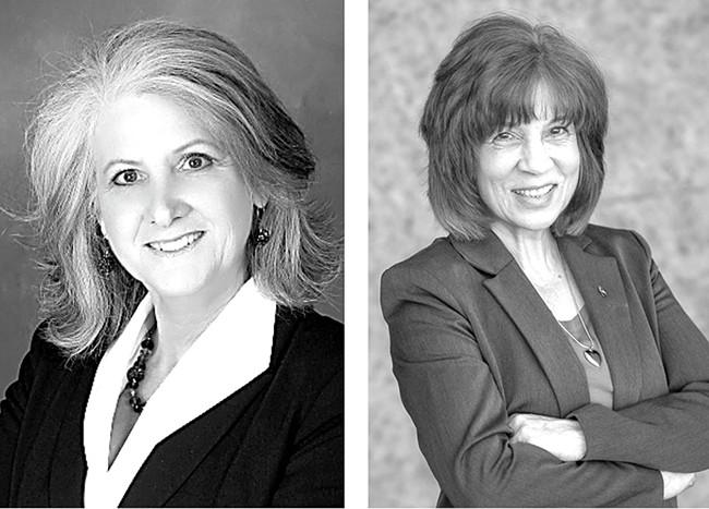 LaVerne Biel, left, faces Lori Kinnear in a race for Spokane City Council.