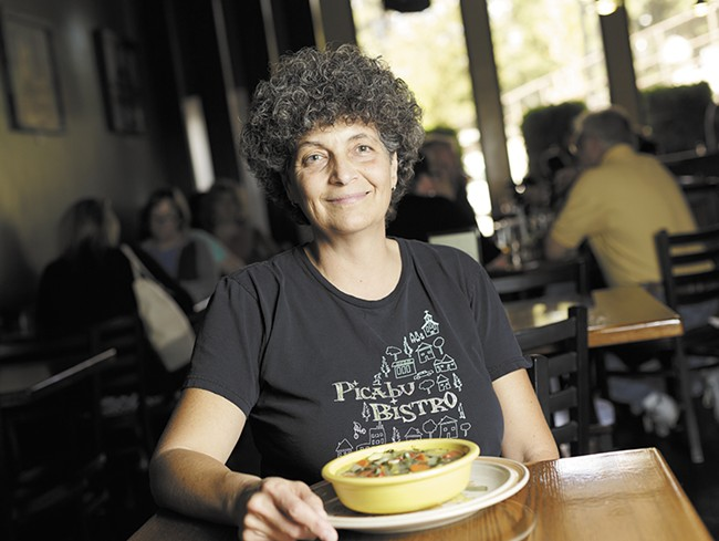 "Picabu Bistro owner Jane Edwards says homemade soup is ""a good way to use up ingredients you don't have anything else to do with."" - YOUNG KWAK"
