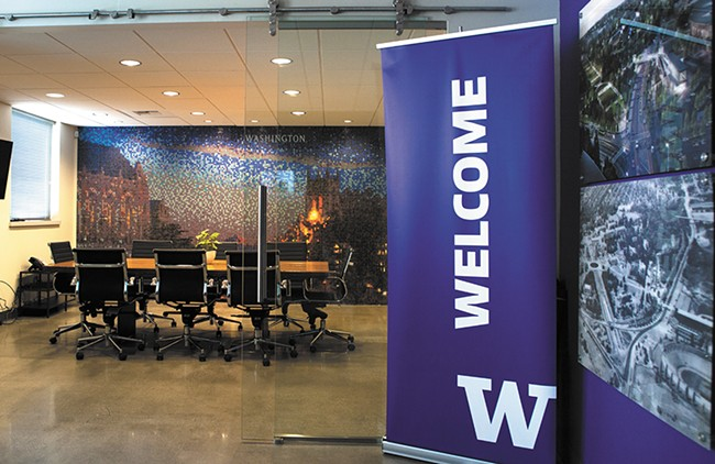 ABOVE: Inside the new UW Spokane Center in downtown Spokane. - KRISTEN BLACK