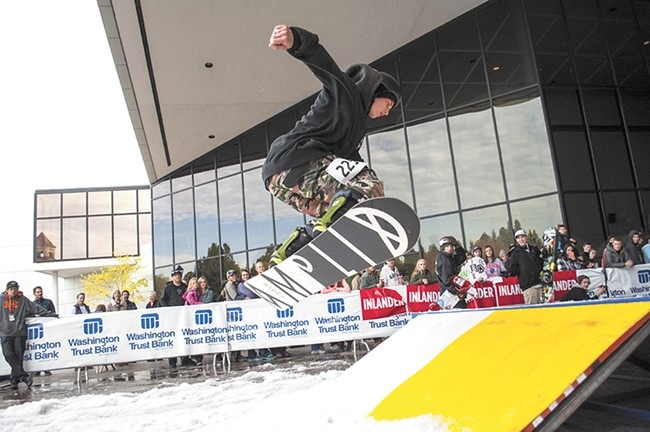 Catching air at last year's Rail Jam. - SARAH WURTZ