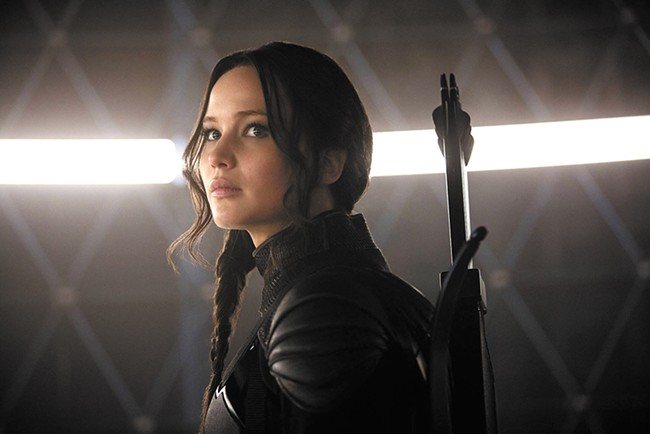Jennifer Lawrence in the final installation of The Hunger Games.